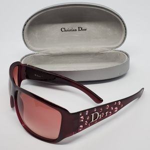 Dior Purple Sunglasses w Pink Swarovski Crystals